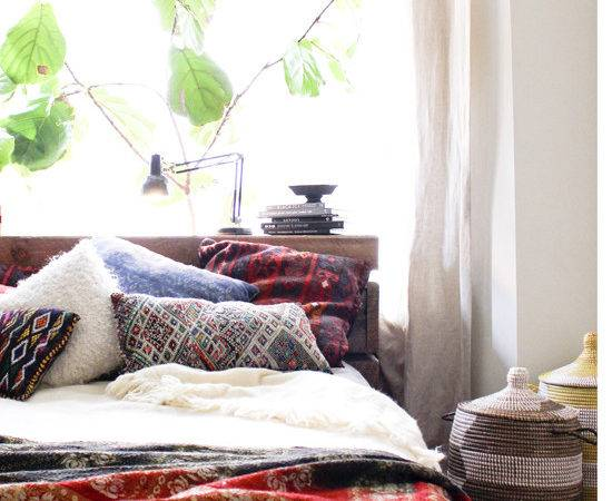 Moon One Room Bright Relaxing Bohemian Bedroom
