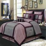 Morgan Purple Gray Luxury Piece Comforter Set Ebay