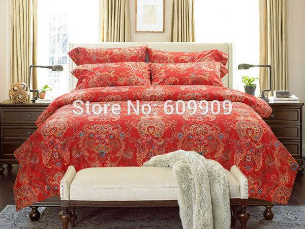 Moroccan Bedding Red Bohemian Boho Style Egyptian