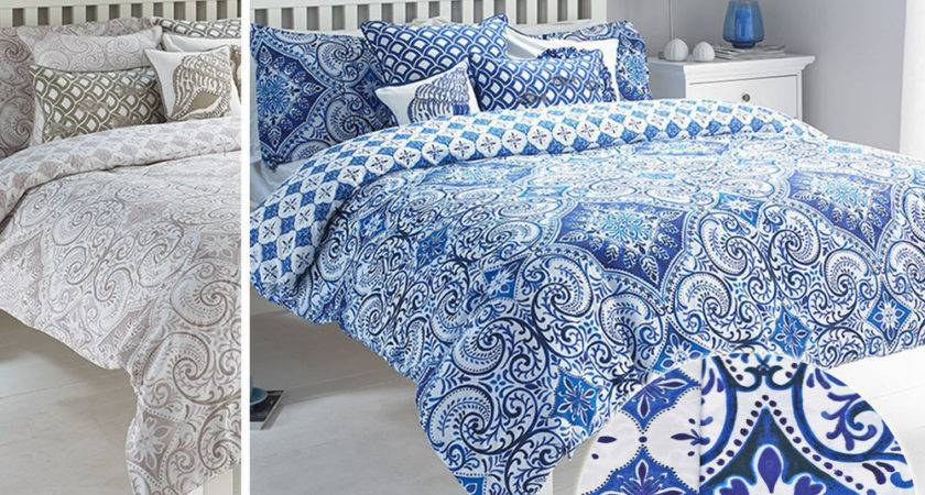 Moroccan Style Paisley Duvet Cover Geometric Florals
