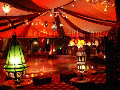 Moroccan Themed Wedding After Dinner Tent Party