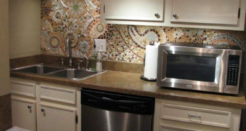 Mosaic Kitchen Backsplash Inexpensive Easy Diy