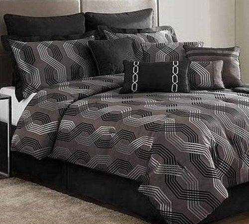 Most Awesome Black Silver Comforter Sets Ordinary