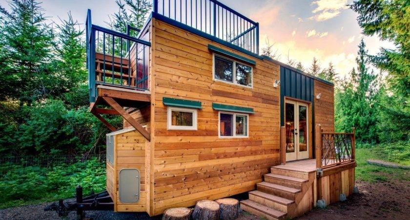 Mountaineer Tiny Home Rooftop Deck