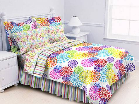 Multi Color Prism Comforter Sheets Sham Set Dorm Teen