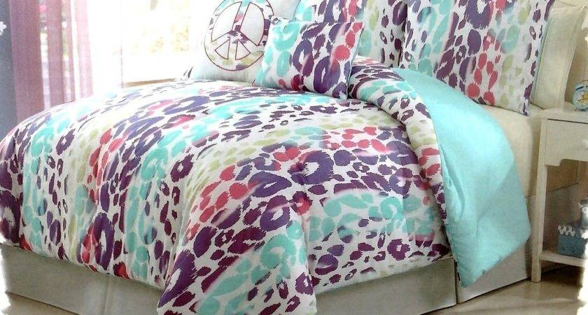 Multi Colored Bedding Sets Leopard