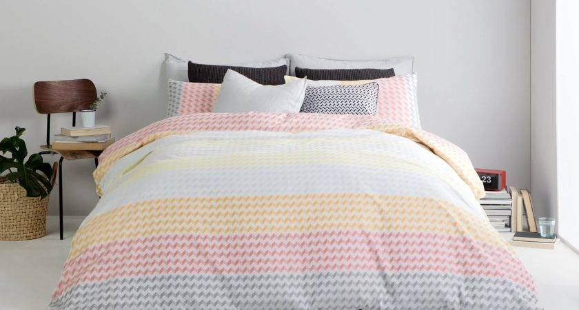 Multi Coloured Zigzag Sanremo Double Duvet Bedding