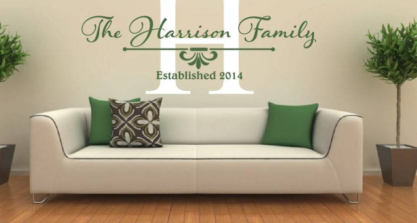 Name Wall Decal Monogram