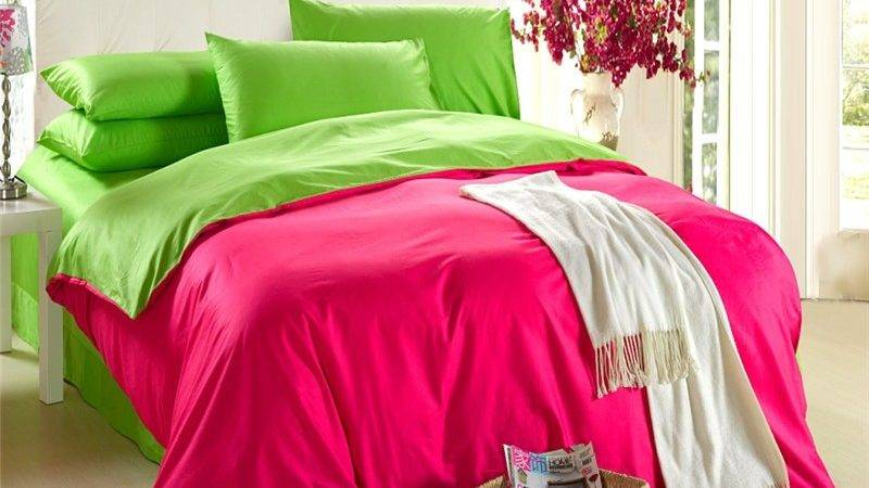 Natural Cotton Euro Double Solid Color Bedding