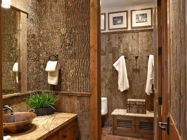 Nature Theme Natural Bath Bathroom Design