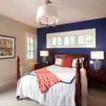 Navy Bedroom Accent Wall Trendy Bedrooms