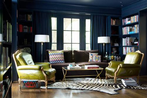 Navy Blue Brown Living Room Ideas