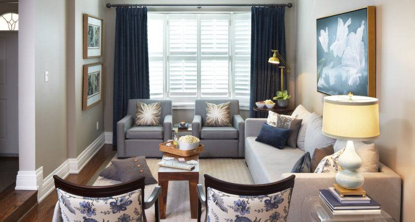 Navy Blue Curtains Living Room Contemporary Artwork