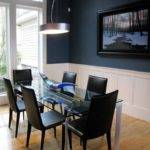 Navy Blue Dining Room Combine White Paint Ideas