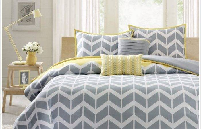 Navy Blue Grey Yellow Bedroom Home Decorating