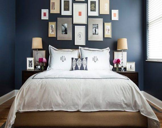 Navy Blue Interior Design Couch Decorating