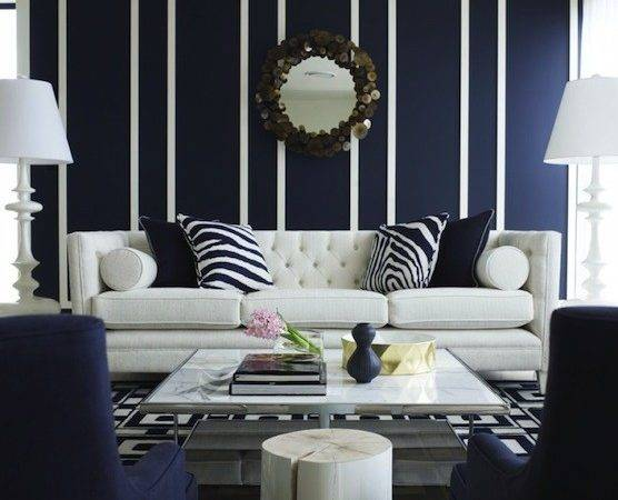 Navy Blue Living Room Design Contemporary