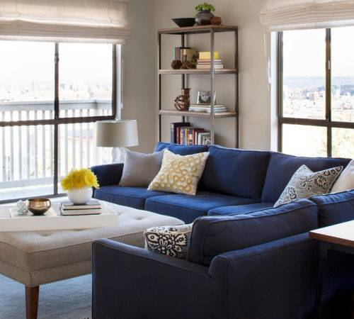 Navy Blue Living Room Furniture Lucan
