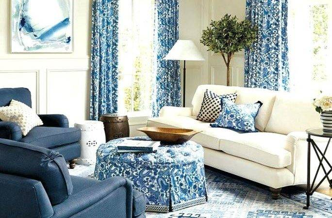 Navy Blue Living Room Silver Grey Color Scheme Sofa