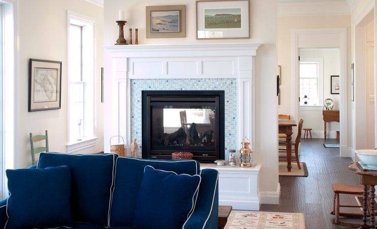 Navy Blue Sofa Living Room Transitional Traditional