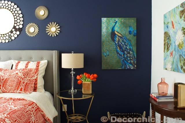 Navy Coral Room Decorchick