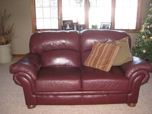 Need Color Punch Added Burgundy Leather Furniture