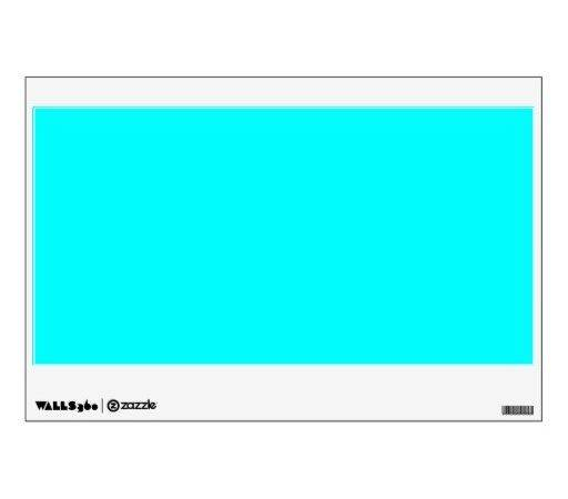 Neon Blue Teal Light Bright Fashion Color Trend Wall Decal