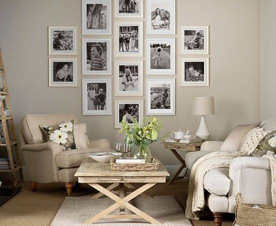 Neutral Living Room Display Decorating