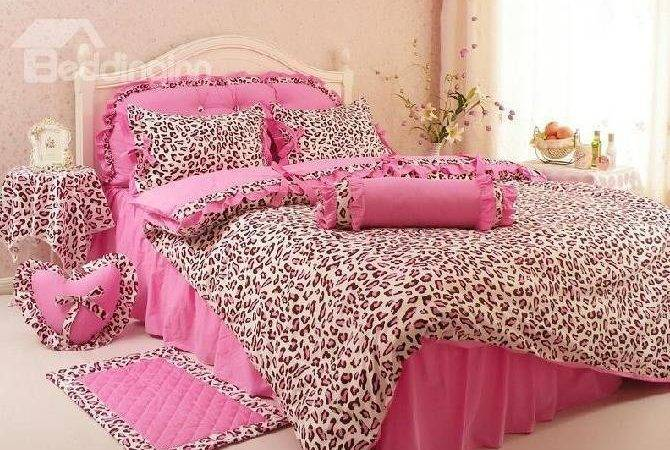 New Arrival Comfortable Leopard Print Pink Princess Style