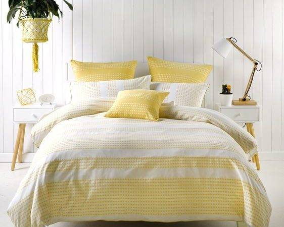 New Deco Pacey Quilt Cover Set Yellow Ebay