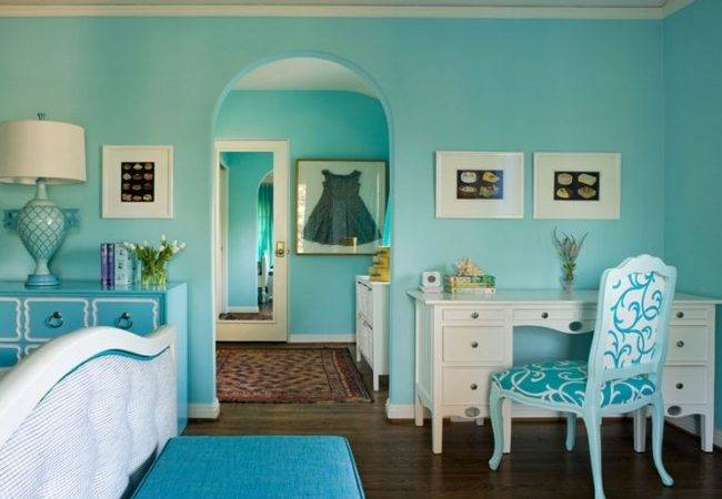 New England Fine Living Tiffany Blue Teal Rooms