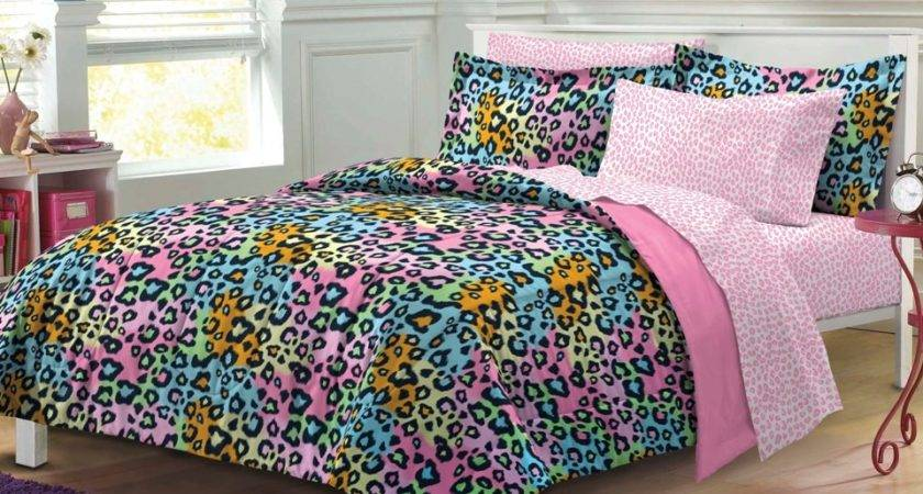 New Neon Leopard Teen Girls Bedding Comforter Sheet Set Ebay