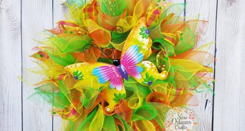 New Orleans Crafts Design Summer Deco Mesh Butterfly