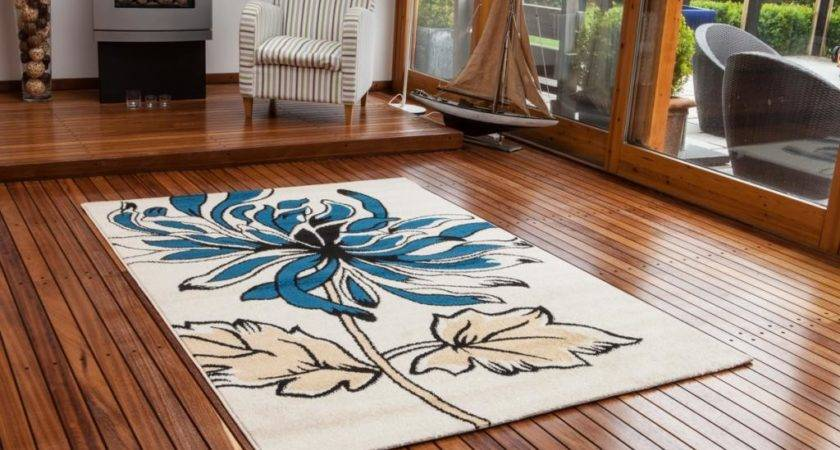 New Small Large Floral Modern Rugs Quality Easy Clean Teal