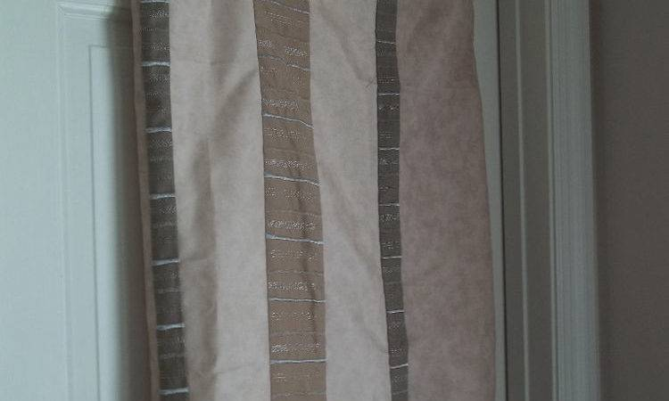 New Smith Striped Fabric Shower Curtain Earth Tone