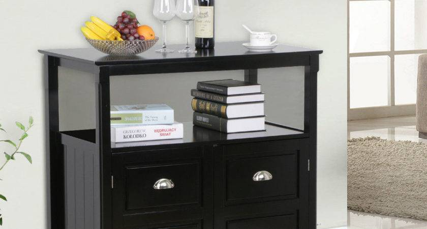 New Timber Wooden Sideboard Buffet Table Storage Black Ebay