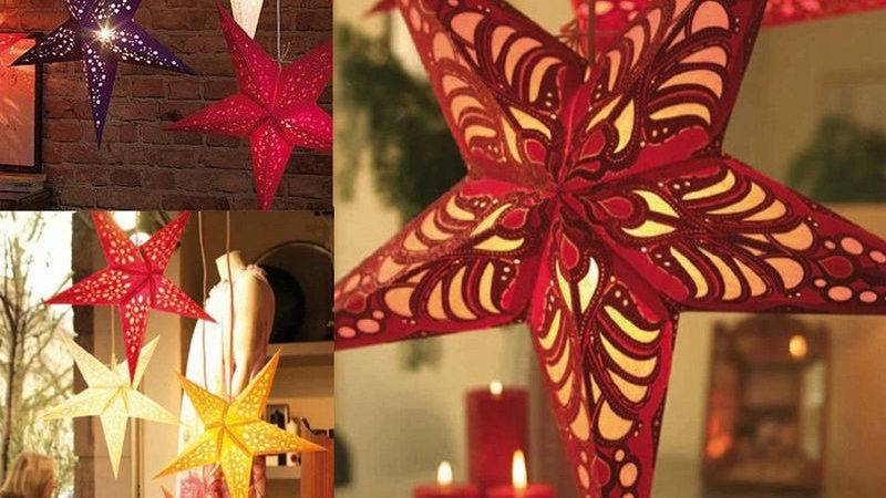 New Xmas String Hanging Star Christmas Party Decor
