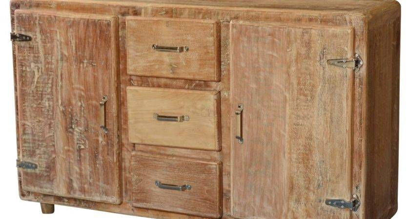 Newdale Rounded Corners Reclaimed Wood Drawer Rustic
