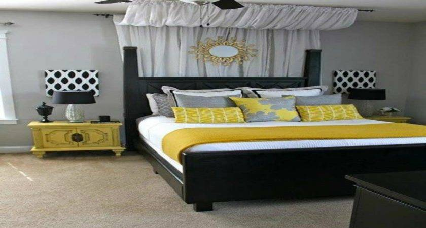 Nice Bedroom Decorations Turquoise Yellow Gray
