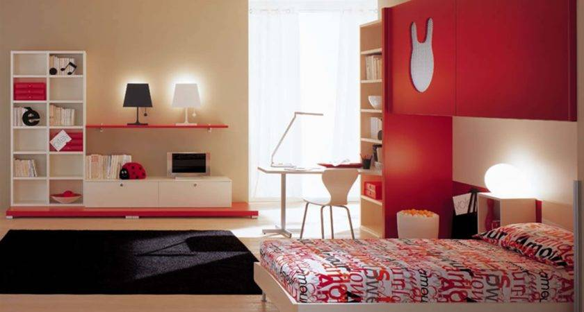 Nice Beige Black Red Bedroom Decorating Home