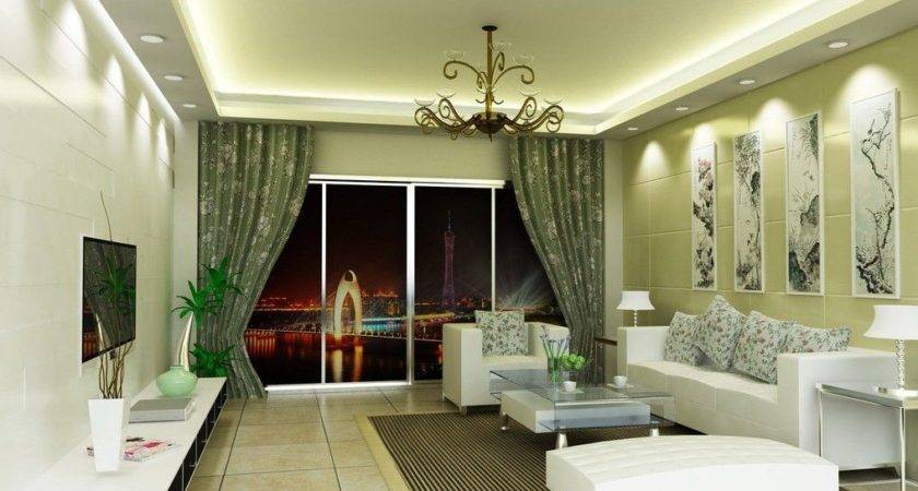 Nice Interior Room Colors Green Living