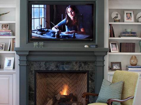 Nice Over Fireplace Decor Placing Your