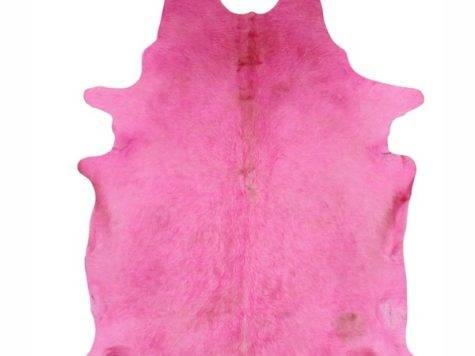 Nuloom Hand Picked Brazilian Solid Pink Cowhide Rug