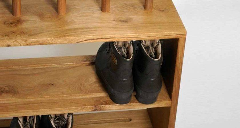 Oak Welly Shoe Rack Seat Prs Boots Boot Saw