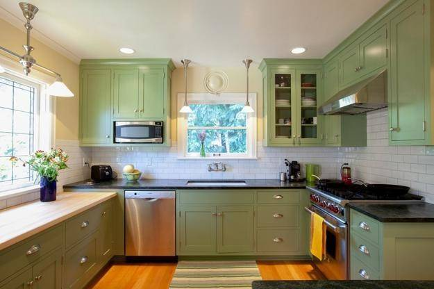 Oat Color Scheme Green Pastels Modern Kitchen