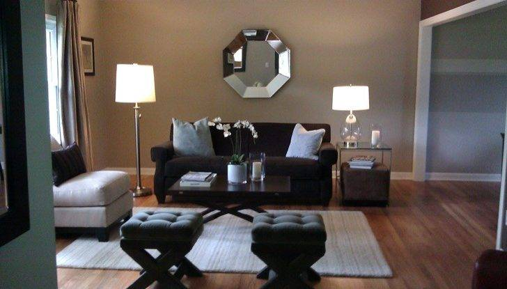 Octagon Mirror Transitional Living Room Sherwin