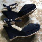 Off Natural Comfort Shoes Blue Suede