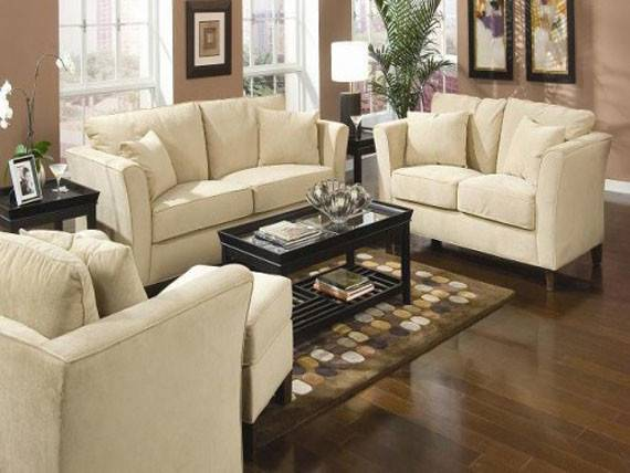 Off White Leather Living Room Furniture