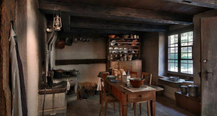 Old Farmhouse Kitchen Interior