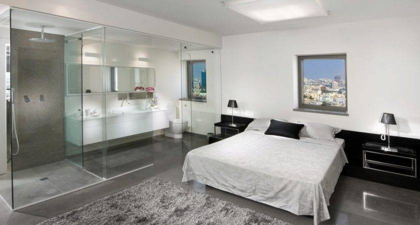 Open Concept Master Suite Bedroom Contemporary White